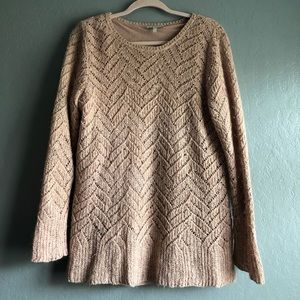 Lucky bRnad blush pink crocheted long sleeve sz 1x